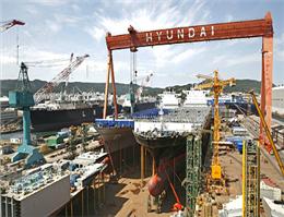 رشد سفارشات ساخت کشتی به هیوندای