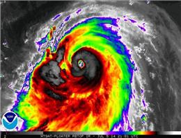 وقوع طوفان سهمگین در ژاپن