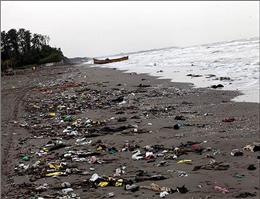 جمع آوری زباله های سواحل چابهار