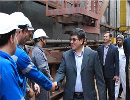 بازدید مدیرعامل کشتیرانی جمهوری اسلامی ایران از پروژههای بندرعباس و قشم