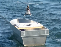 Self-Landing Drone Joins  in Navy Exercises