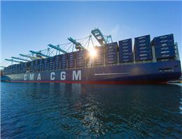 کشتی18 هزار TEU فرانسه در لس آنجلس پهلو می گیرد
