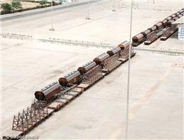 احداث 1500متر خط آهن در بندر امام