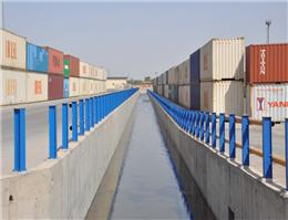 بهره برداری از کانال دفع آب های سطحی در بندرخرمشهر