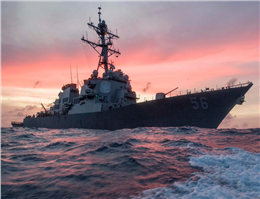 U.S. Warship Collides with Tanker near Singapore