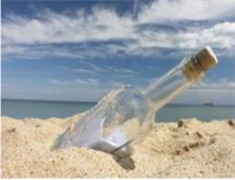 کشف بطری 101 سال پیش در سواحل آلمان