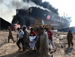 علت انفجار در یارد اوراق سازی پاکستان مشخص شد
