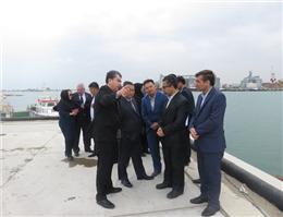 استاندار ایسیکول قرقیزستان از بندرامیرآباد بازدید کرد