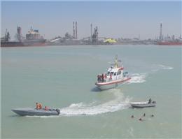 مانور مقابله با شرایط اضطرار دریایی در بندر امام برگزار شد