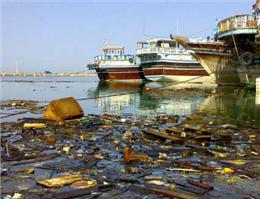 پاک سازی ساحل بندر گناوه در بوشهر