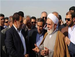بازدید رئیس دفتر مقام معظم رهبری از پروژه پل خلیج فارس