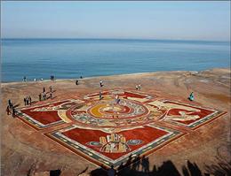 فرش خاکی خلیج فارس رونمایی شد