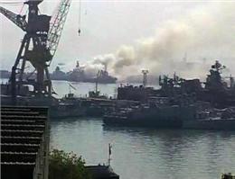 آتش سوزی کشتی جنگی هند