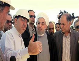 بازدید رئیس جمهور از ساخت راهآهن چابهار - زاهدان