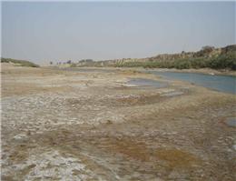 قطع کامل ورودی آب رودخانه زهره به خلیج فارس