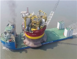 China's First Offshore Oil Platform Leaves for UK