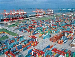 Shanghai port container throughput shows February rise