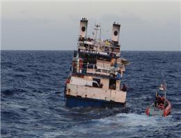 کشف 970مهاجر غیرقانونی در کشتی یونانی