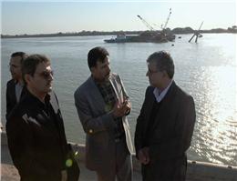 بازدید مدیر عامل سازمان بنادر از بندر خرمشهر