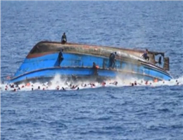 Overcrowded Migrant Boat Flips