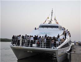 افتتاح رسمی خط دریایی خرمشهر - بصره