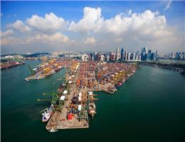 نیم نگاهی به فعالیت بندر سنگاپور در سال 2017