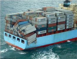 Maersk Line vessel and German ship collide