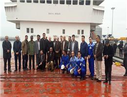 بازدید مشاور مقام معظم رهبری از کشتیرانی دریای خزر