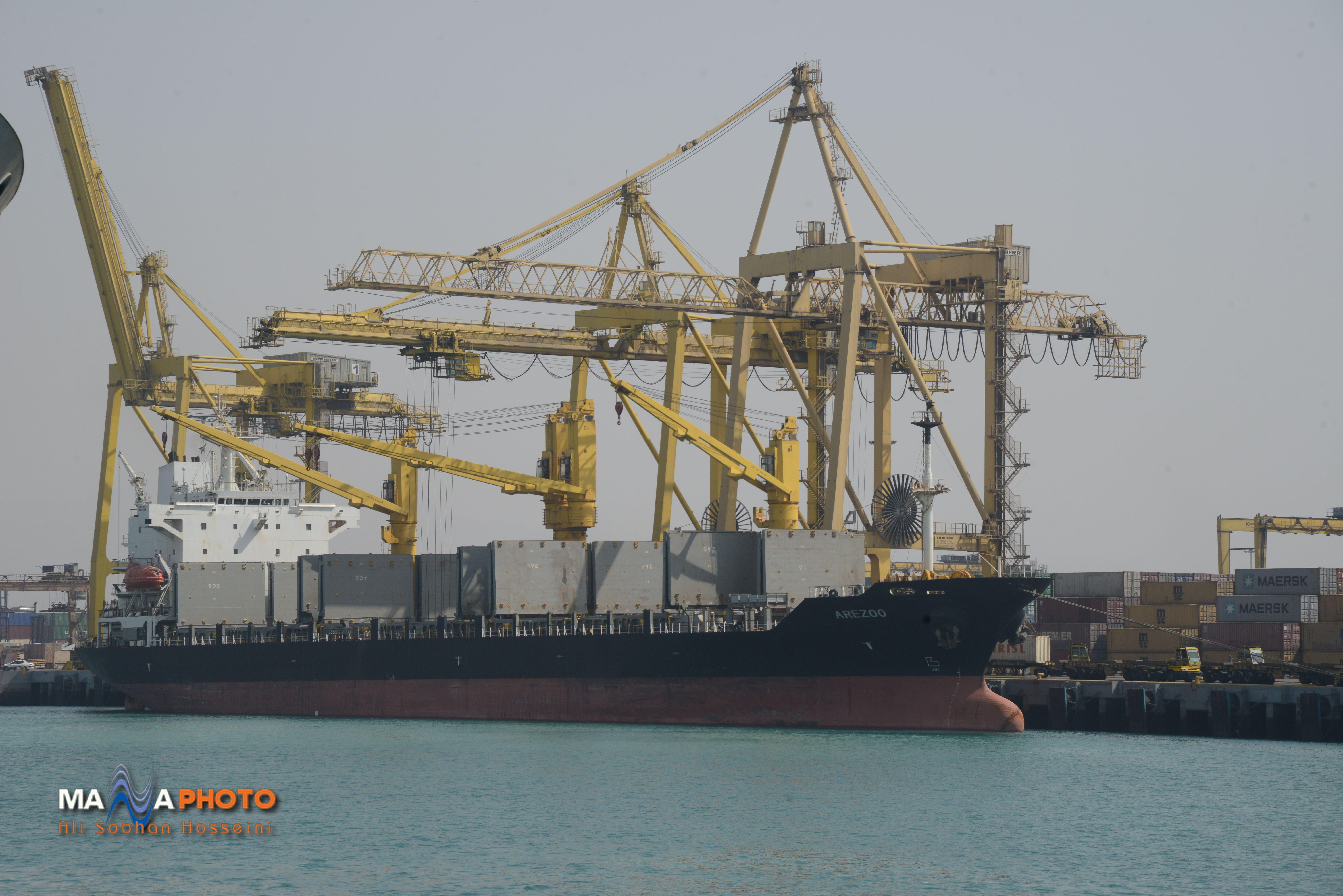 Shahid Rajaee port in picture frame